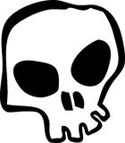 Skull. White cartoon style human skull Stock Photos