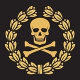 Skull. And bones symbol, pirates symbol Royalty Free Stock Photo