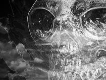Skull. Grunge skull image pattern for halloween backgrounds Royalty Free Stock Photography