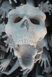 Skull. Statue in temple, Thailand Stock Images