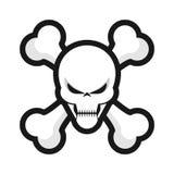 Skull. A cartoon style skull illustration Royalty Free Stock Photography