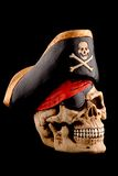 Skull. A sculpture of skull with  a hat Royalty Free Stock Photo