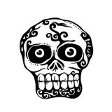 Skull. Mexico style design elements. vector illustration Royalty Free Stock Photo