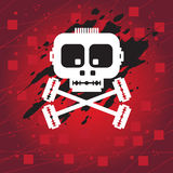 Skull. White skull on the abstract background Royalty Free Stock Photography