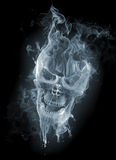 Skull. Smoke on black background Stock Photo