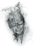 Skull. Smoke on white background Royalty Free Stock Photos