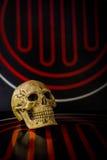 Skull on abstract Stock Photos