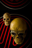 Skull on abstract Royalty Free Stock Images