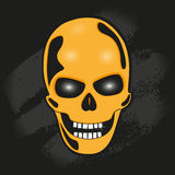 The skull against the wall. stylized vector illustration Royalty Free Stock Photos