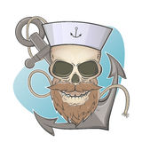 Skull and anchor Royalty Free Stock Photo