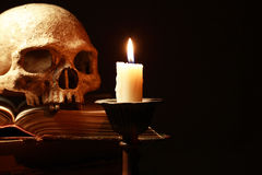 Skull And Candle Royalty Free Stock Photo