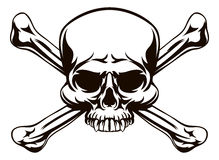 Free Skull And Cross Bones Sign Royalty Free Stock Image - 79350796