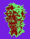 Skull of the angry monster. Vector illustration. Stock Image