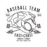 Skull animal. Baseball team emblem Royalty Free Stock Photo