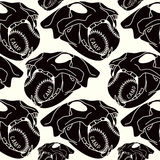Skull animal  seamless pattern Royalty Free Stock Photography