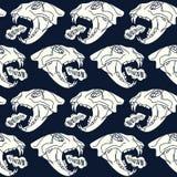 Skull animal  seamless pattern Stock Image