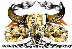 Skull animall idea art Royalty Free Stock Photography