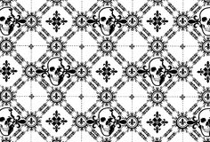 Skull Argyle Pattern with Fleur De Lys Royalty Free Stock Photo