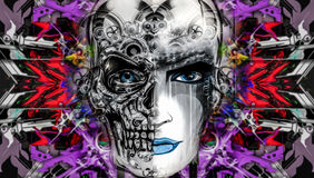 Skull art Royalty Free Stock Images