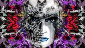 Skull art Royalty Free Stock Images