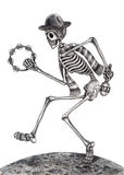 Skull art dancing music day of the dead. Royalty Free Stock Images