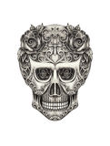 Skull art day of the dead. Stock Photos