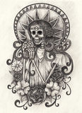 Skull art day of the dead. Royalty Free Stock Photos