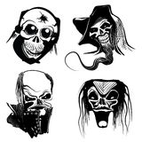 Skull art designs. Vector illustration of skull art designs Stock Photos
