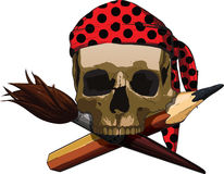 Skull artist Royalty Free Stock Photos