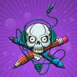Skull Artist Royalty Free Stock Image