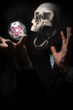 Skull Atomic Particle Royalty Free Stock Photography