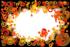 Skull background Royalty Free Stock Photos