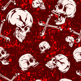 Skull_background 图库摄影