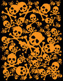 Skull background. Vector skull with crossbones background illustration Royalty Free Stock Photography
