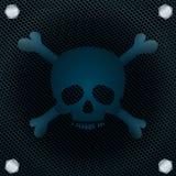 Skull background. Skull and crossbones on metal grid. Vector illustration Stock Photography