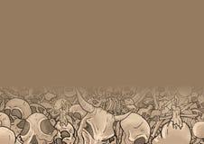 Skull background Royalty Free Stock Photography