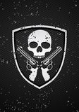 Skull badge Stock Images