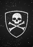 Skull badge Royalty Free Stock Images