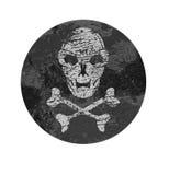 Skull badge Royalty Free Stock Photography