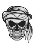 Skull with bandana Royalty Free Stock Photos