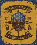 Skull with bandana Royalty Free Stock Photo