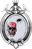 Skull banner Royalty Free Stock Image