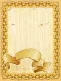 Skull banner background Stock Images
