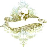 Skull banner illustration Stock Photos
