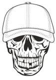 Skull in baseball cap Stock Photo
