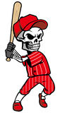 Skull baseball mascot Royalty Free Stock Image