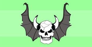 Skull bat wings background Royalty Free Stock Photos