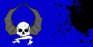 Skull bat wings background4 Stock Photos