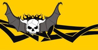 Skull bat wings background5 Royalty Free Stock Photo