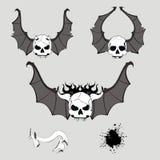 Skull bat wings set vector Royalty Free Stock Photography